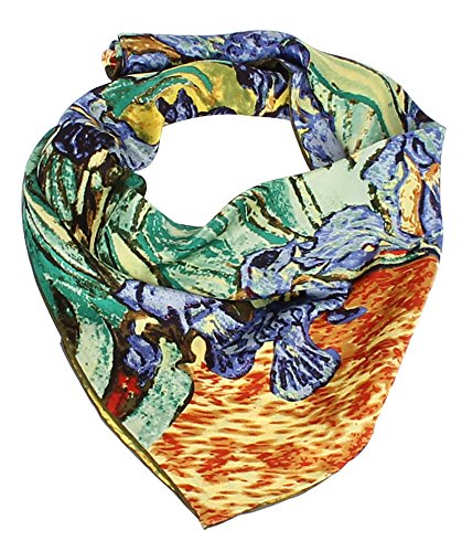 Olina-Womens-High-Grade-Elegant-100-Luxury-Square-Silk-Scarf-Shawl