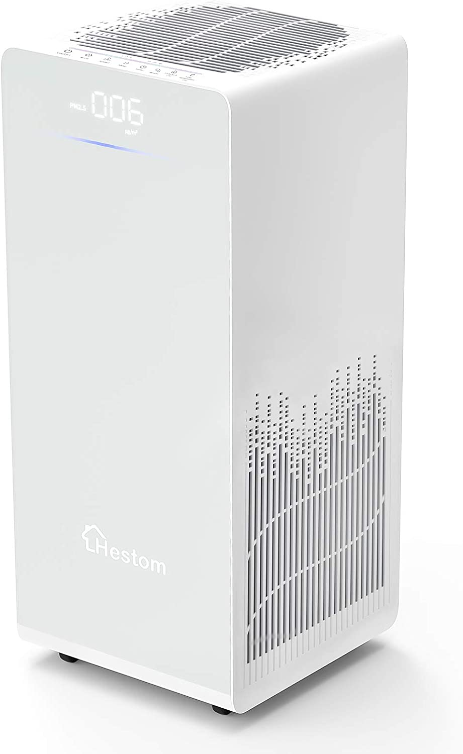 Hestom Air Purifier for Home Large Room, 1200 Sq Ft Coverage,H13 True HEPA Air Cleaner Filter, Perfect for Pets, Low Noise, Auto Mode, 3 Fans Setting, Negative Ion, White
