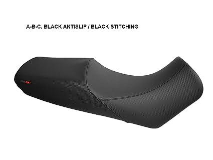 Funda de Asiento para Suzuki V-Strom DL650 04-11 Negro-Costura Gris
