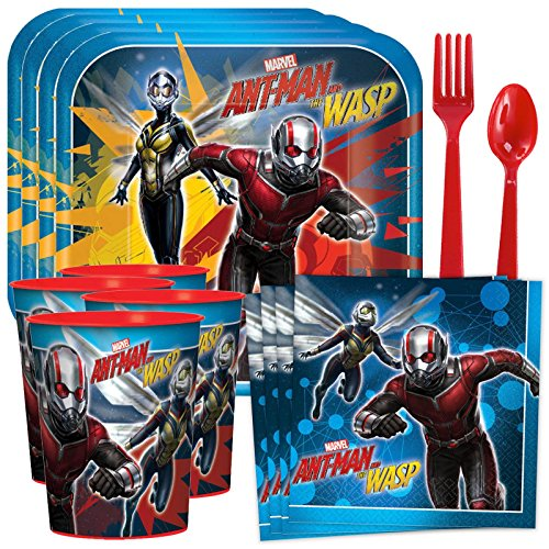 Marvel Ant Man & The Wasp Standard Tableware Kit with Plastic Favor Cups (Serves 8)