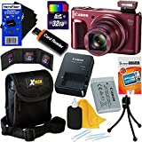 Canon PowerShot SX720 HS 20.3 MP Wi-Fi Digital Camera with 40x Optical Zoom & HD 1080p video (Red) + 10pc 32GB Accessory Kit w/ HeroFiber Gentle Cleaning Cloth