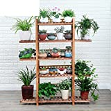 Wooden floor racks Multi-layer floor pot holder Balcony Indoor and outdoor Living room Wooden showy-C