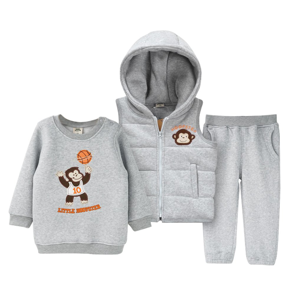 Amazon.com: GudeHome Baby Sweatshirt & Pants & Vest 3pcs Clothing Sets Winter Tracksuits Kids Hooded Waistcoat: Baby