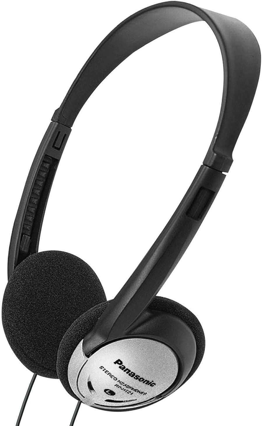 Panasonic Headphones On-Ear Lightweight with XBS RP-HT21 (Black & Silver): Panasonic: Home Audio & Theater