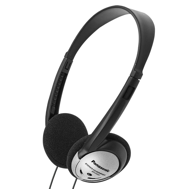 Panasonic Headphones On-Ear Lightweight with XBS RP-HT21 (Black & Silver)