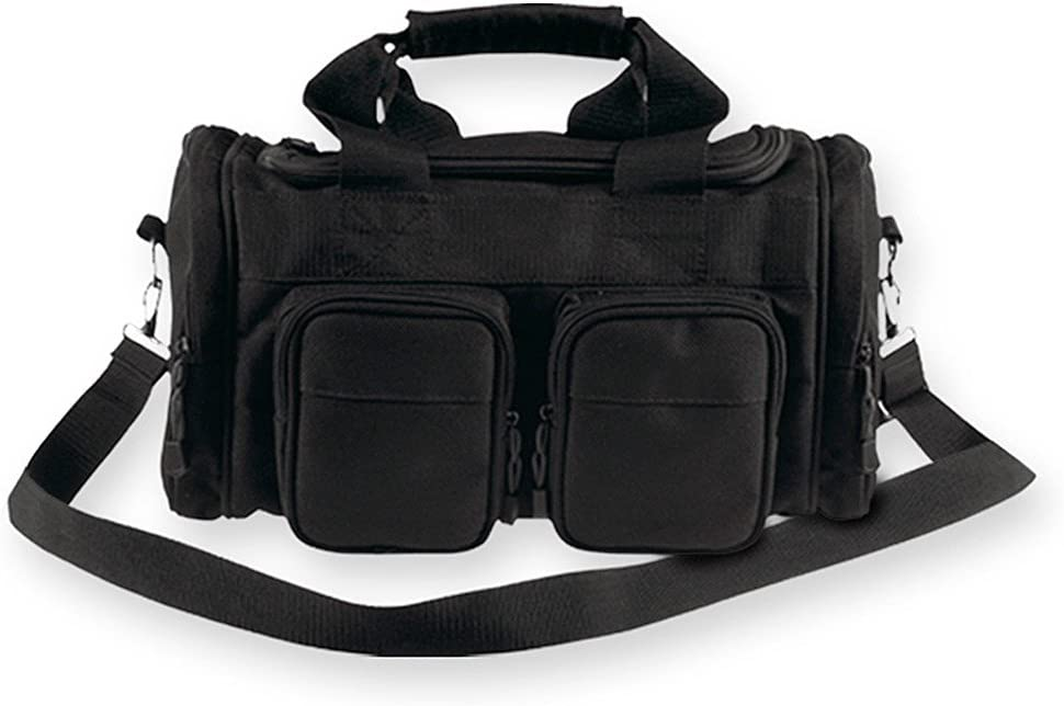 Bulldog Cases Extra Large Deluxe Black Police and Shooters Range Bag with Strap