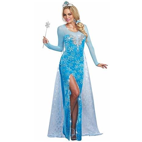 Costume regina delle nevi vestito azzurro Diadem Ice Princess Ice Age  Märchen db1638d7436