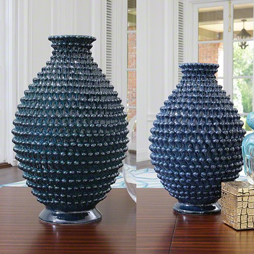 Global Views Pinecone Cobalt-Sm Decorative Items - Vases/Urns, ()
