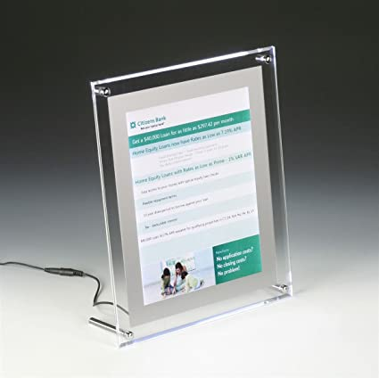Amazon.com : Displays2go Illuminated Picture Frame for 8.5 11 Inches ...