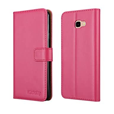 samsung galaxy j4 plus leather case