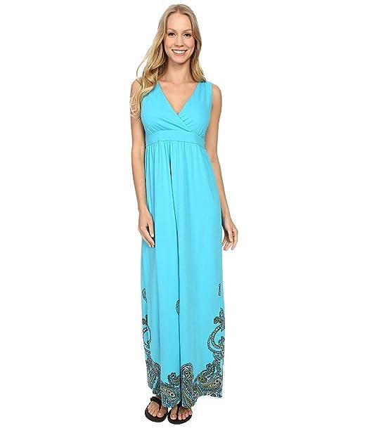 60c2fca49dd Aventura Clothing Women s Ashby Maxi Dress Peacock Blue Dress XL (US ...