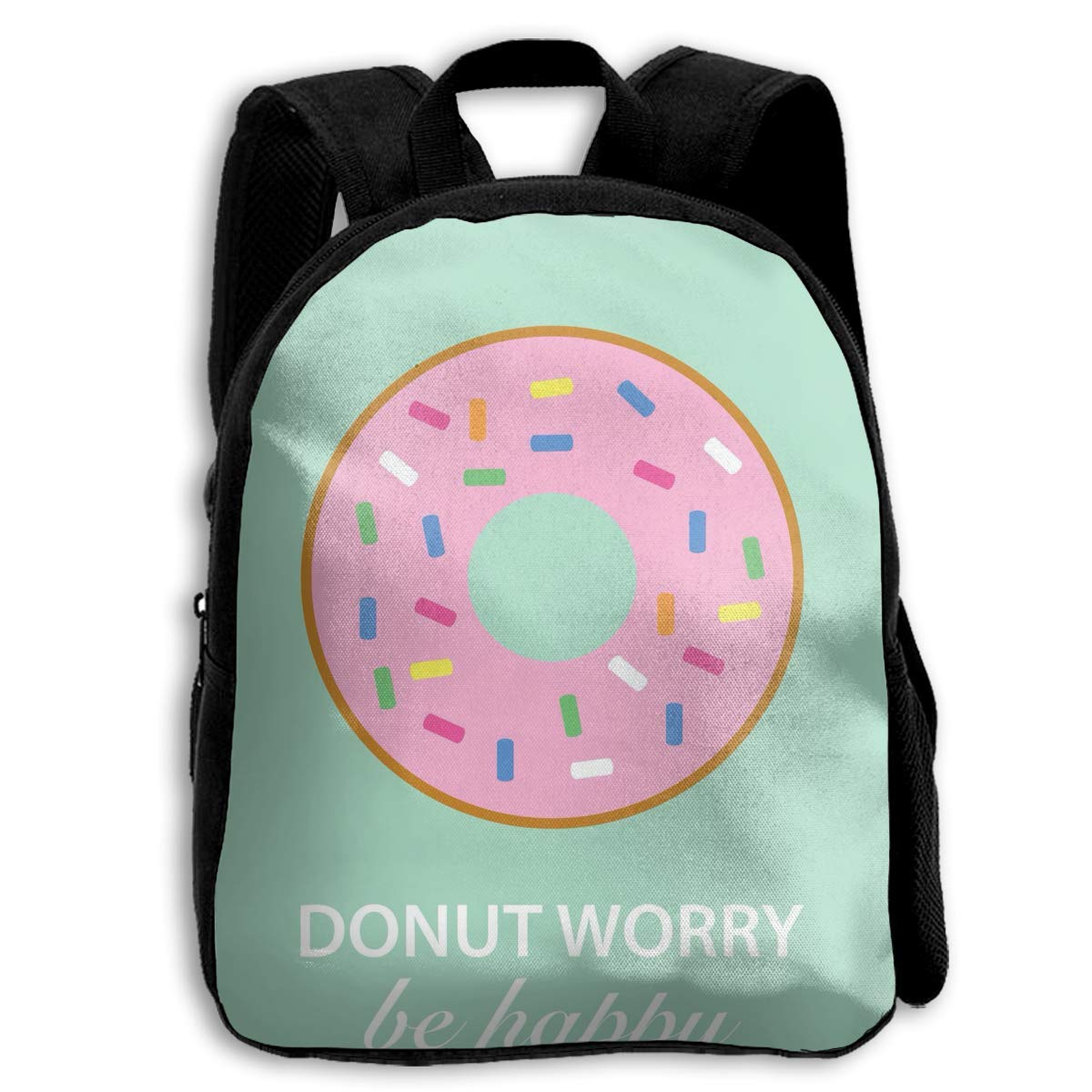 sd4r5y3hg Kids Toddler Don't Worry Be Happy Donut Pre School Travel Camping Backpack ZAZDKJE9ODU4MPXINBDL-0-0