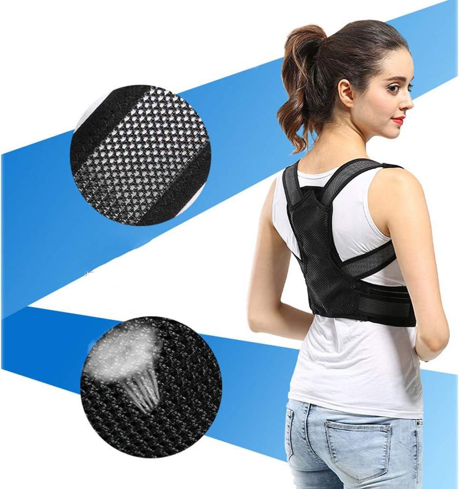 Soporte de cifosis,S Efectivo y c/ómodo Enderezadora de la Parte Superior de la Espalda Corrector de Postura Ajustable Soporte de Espalda para Mujeres Hombres YMJJ Corrector de Postura