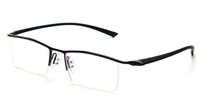 f2ea91f14f JNS Titanium Semi-rimless Eyeglasses Business Optical Frame Clear Lens