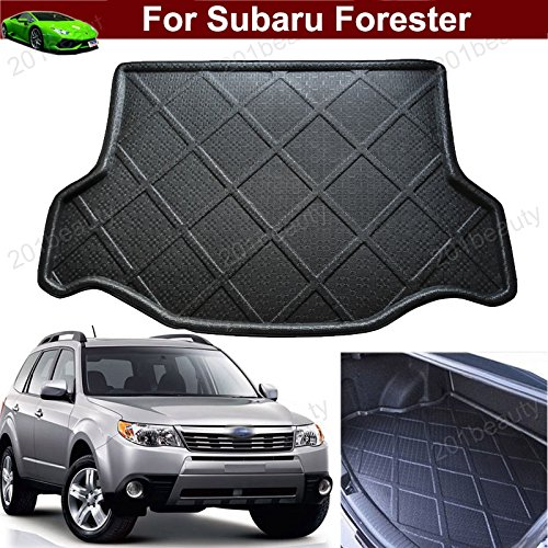 1pcs Black Color Car Boot Pad Carpet Trunk Cargo Liner Floor Mat Molded Cargo Tray Custom Fit For Subaru Forester 2013 2014 2015 2016 2017 2018 Chaoben