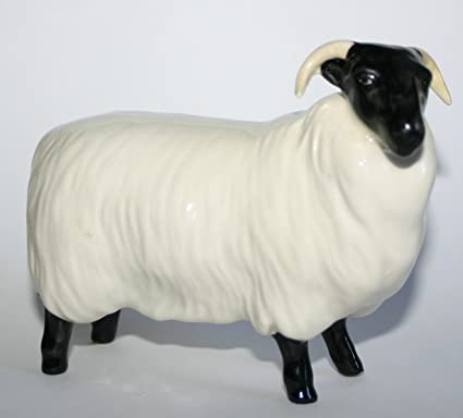 Beswick Black Faced Sheep Matt 1765 Made In England Amazon
