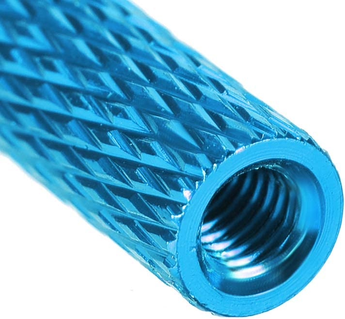 uxcell M3x25mm Aluminum Standoff with Mesh Texture Column Spacer for RC Airplane FPV Quadcopter CNC Sky Blue 2pcs