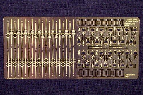 Davits Set - Gold Medal Models - TITANIC LIFEBOAT DAVITS (Set of 20 plus spare parts) 1:350 scale by VCSHobbies