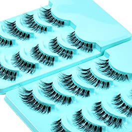 Kenzie Beauty 10 Pairs Demi Wispies False Lashes Handmade Natural Eyelash Pack #120
