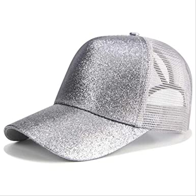 HUASE Sombrero Glitter Ponytail Gorra de béisbol Sombrero Mesh ...