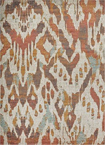 - Well Woven FI-94-3 Firenze Rhapsody Modern Ikat Distressed Earth Accent Rug 2' x 3' Doormat