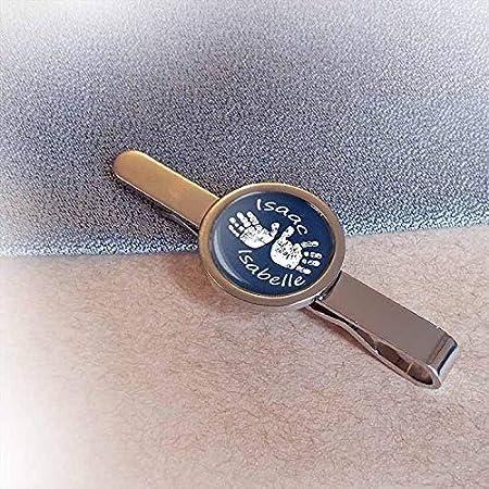 Personalised Silver Footprint Tie Slide