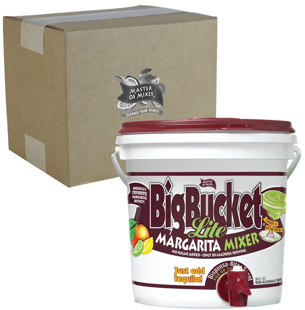 Master of Mixes Margarita LITE Mix, Ready to Use, 96 oz BigBucket, Individually Boxed by Master of Mixes