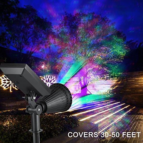 creative design led outdoor solar spotlight multi colored