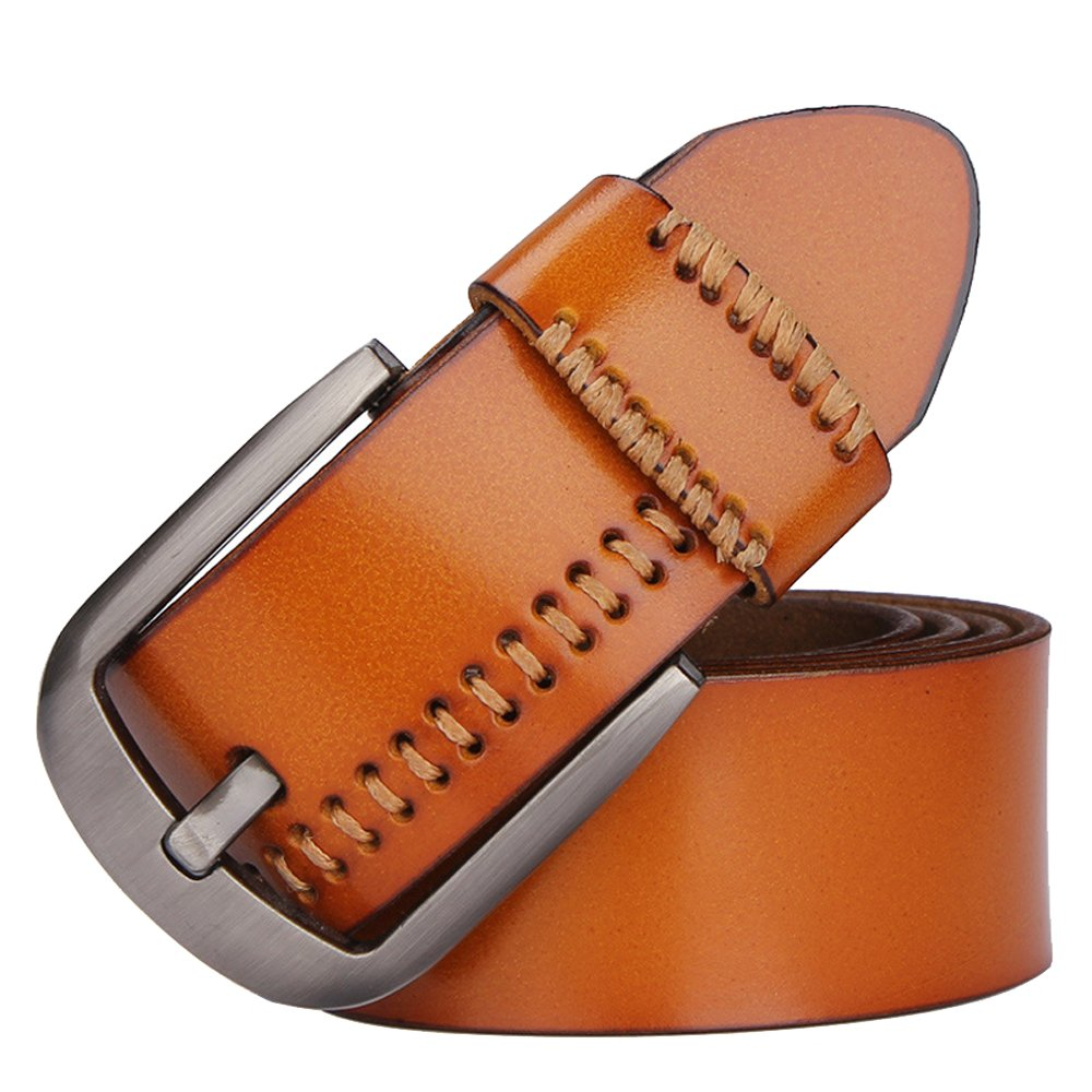 Fashion Mens Leather Waist Business Casual Luxury Pin Buckle Belt