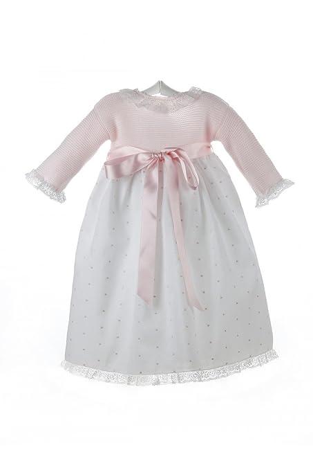 Isabel Maria - Faldón para bebé con el cuerpo tejido en punto bobo y ...
