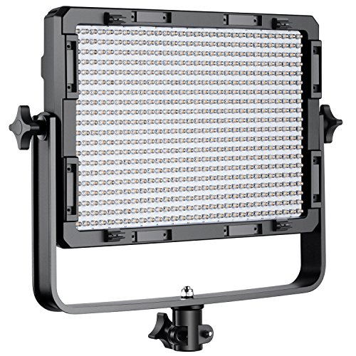 Neewer Dimmable Bi-Color 600 LED Video Light with U Bracket and Color Filter (White, Orange) for Studio, YouTube Outdoor Video Photography Lighting, 600 LED Beads, 3200-5500K, CRI 95+ by Neewer