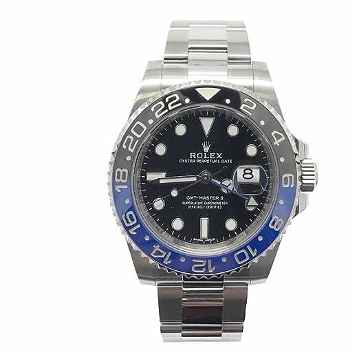 Rolex GMT Master II Batman swiss-automatic Mens Reloj 116710 BLNR (Certificado) de segunda mano: Rolex: Amazon.es: Relojes
