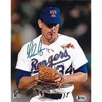 $99 » Nolan Ryan Signed Texas 8x10 Blood Photo BAS