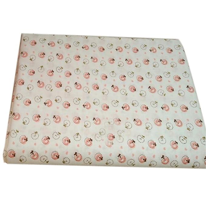 LUFA Tela de algodón 7pcs / set para el tejido de costura de costura de tejido de remiendos de casa Tela de algodón de Tilda Serie Rosa Tela de cuerpo ...