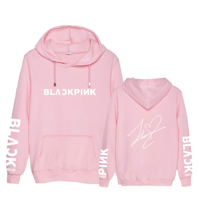 Qaedtls Kpop Blackpink Hoodie Sweatshirt Rose Jisoo Jennie Lisa Sweater Jacket