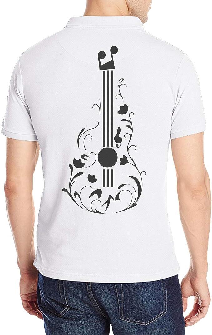 LANJYF Playera Polo para Hombre con Tatuaje de Guitarra - Blanco ...