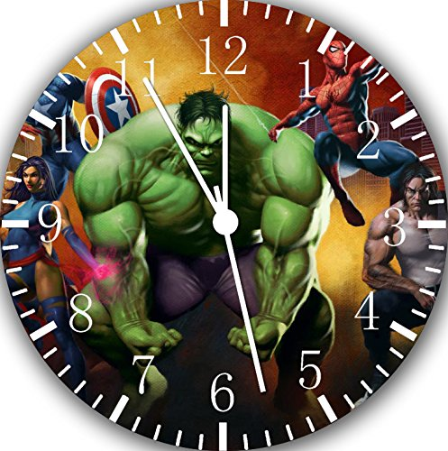 Avengers Hulk Frameless Wall Clock