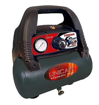 Unicair Compresor eléctrico sin aceite. 6 litros.1,5HP.: Amazon.es: Bricolaje y herramientas