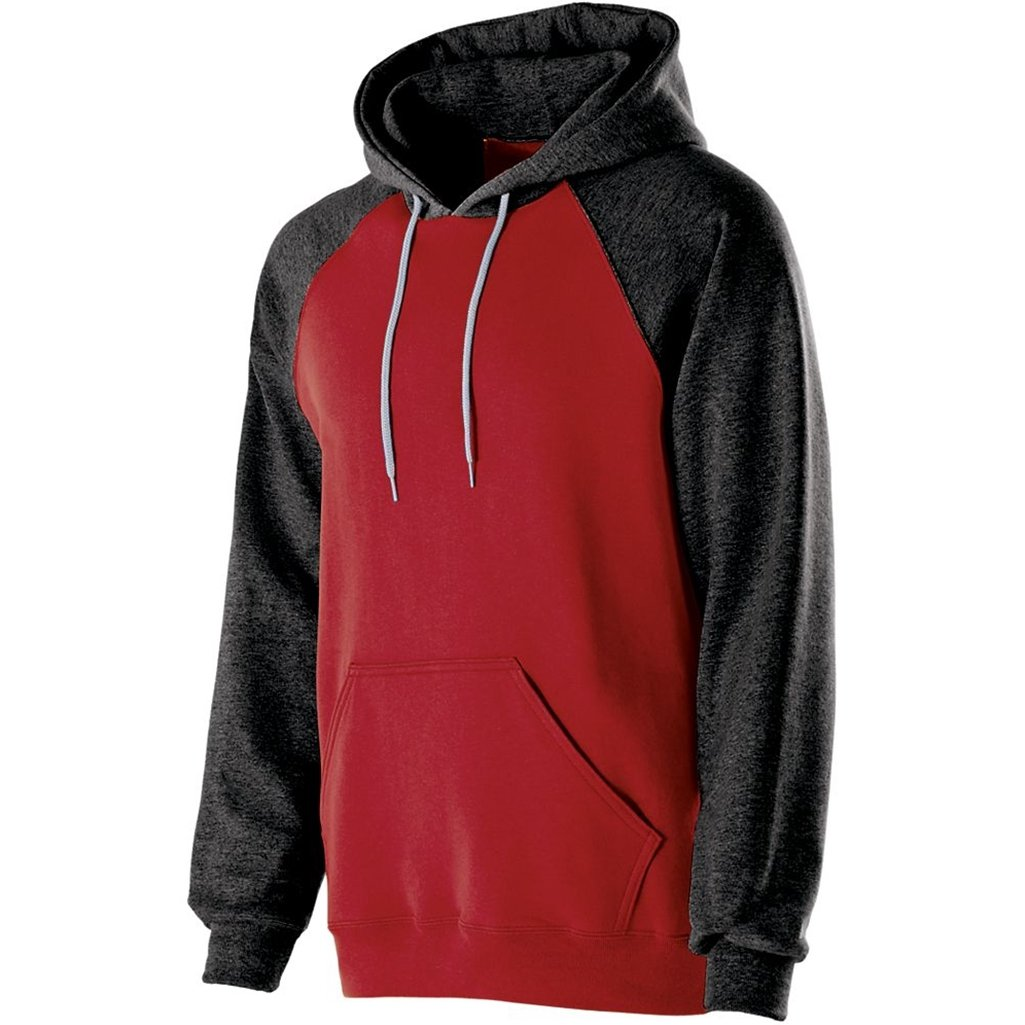 Holloway Youth Banner Hoodie (Large, Red/Black) by Holloway