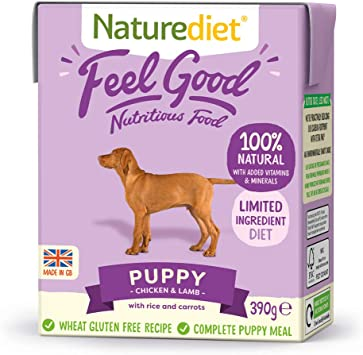 Naturediet Feel Good Puppy Complete Wet Food 390g x 18