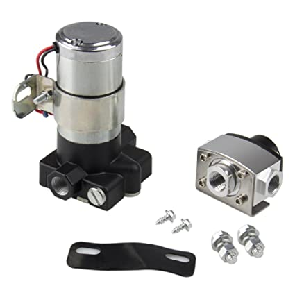Bang4buck High Flow Universal Electric Fuel Pump 105 Gallon Per Hour 7-14  Psi for Chevrolet, Ford, Chrysler etc - 3/8 Inch Diesel Gasoline Lift Pump