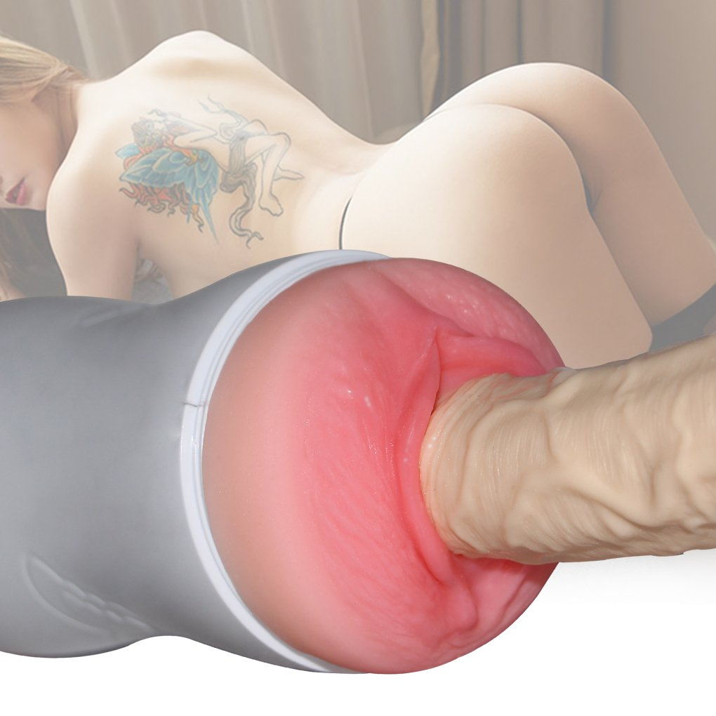 Masturbador realista 3D cara juguetes sexuales para hombres hombres Masajeador doble erótico para hombres hombres (coño y boca),blanco 278bb5