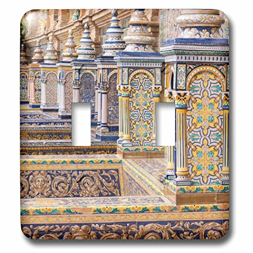 3dRose Danita Delimont - Spain - Spain, Andalusia, Seville. Plaza de Espana ornately decorated. - Light Switch Covers - double toggle switch (lsp_277899_2) by 3dRose