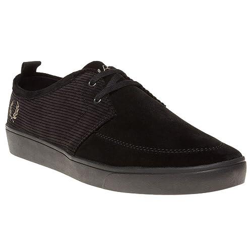 Fred Perry - Zapatillas de Terciopelo para Hombre, Color Negro, Talla 44: Amazon.es: Zapatos y complementos