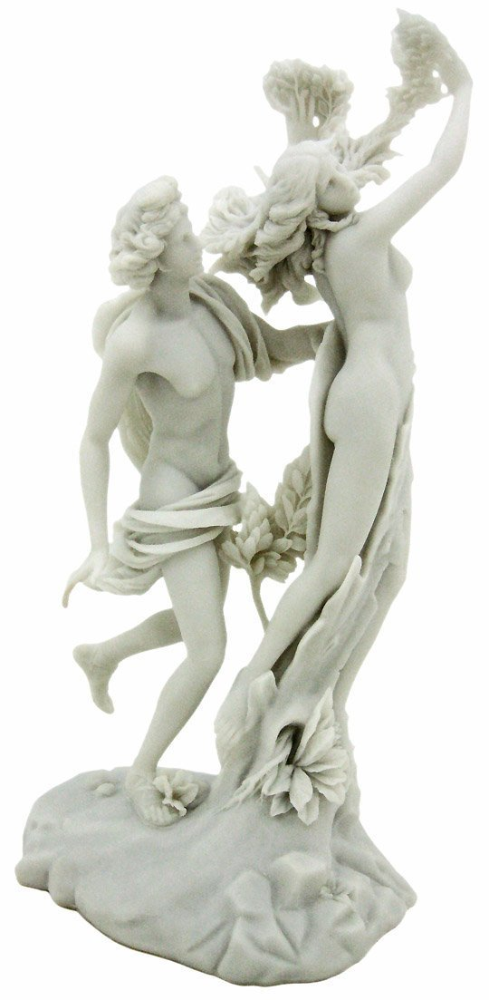 Top Collection Apollo and Daphne Replica Statue – Apollo and Daphne, by Gian Lorenzo Bernini Sculpture in Premium Cold-Cast Marble – 14-inch Greek Mythology Collectible Figurine