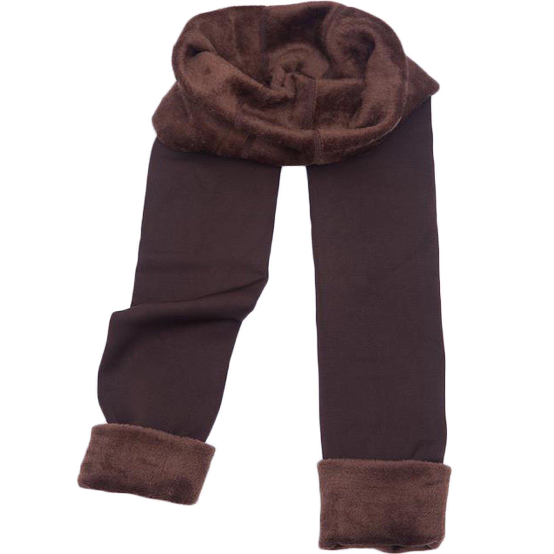 Women's Autumn And Winter High Elasticity Warm Leggings Thick Velvet Opaque Pants