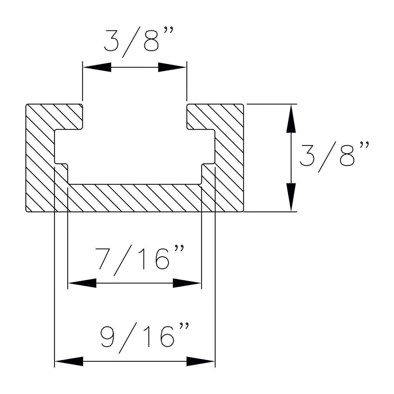 POWERTEC 71373 Double-Cut Profile Universal T-Track with Predrilled Mounting Holes 48-Inch 4PK