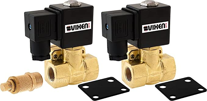 Solenoid with Two 1//2 Flow//Dump Control Valves VXF2012M-8 Vixen Air 1//2 NPT Air Ride Suspension High Flow Electric Air Valve 210 PSI 8-Pack
