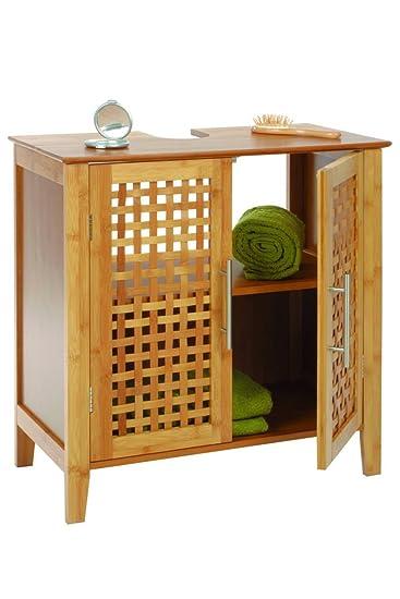 Schön Badezimmer Möbelstück Aus Bambus Für Unters Waschbecken   2 Türen Und 1  Regalbrett   Moderner Und