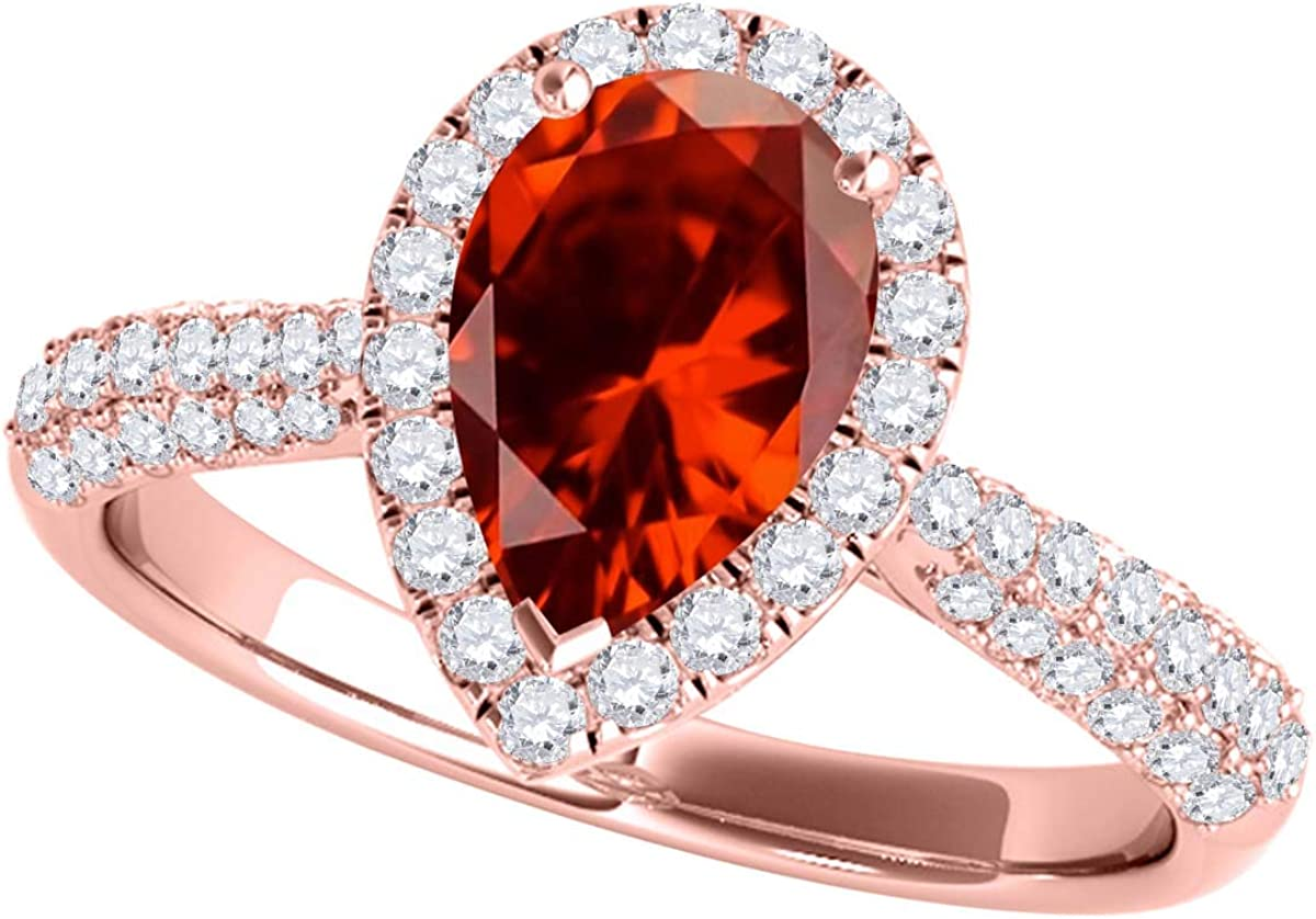 Garnet Ring Women Garnet Ring Garnet and Gold Ring 3 Stone Ring Red Garnet Ring 10K Yellow Gold Three Stone Ring January Birthstone